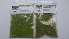 Estática hierba Twin Pack 2 Mm Y 4mm-Moss Green-Grass rebaño de primera clase de envío