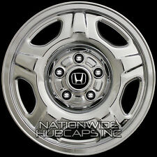 "Set of 4 New 02-04 Honda CR-V 15"" CHROME Wheel Skins Hub Caps Rim Overlay Covers"