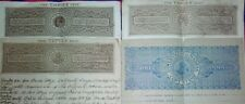 lot of 4 diff. british india bond/stamp papers!100 years old..
