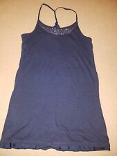 American Eagle Outfitters navy blue sequin summer dress long top small petite