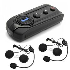 1000m BT-S1 Bluetooth Intercom Motorcycle Helmet Headset FM Radio+Extra Earphone