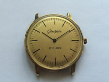 Vintage men's dress Glashutte hand-winding watch cal.09-20