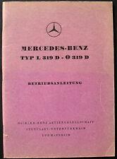 original Betriebsanleitung - MERCEDES-BENZ TYP L 319 D - O 319 D - Ausgabe B 4