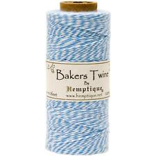 Hemptique Light Blue and White Cotton Bakers Twine for Packaging, etc - 410 Feet