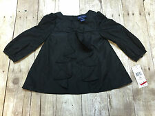 RALPH LAUREN POLO LS SHIRT BLACK BOW FRILLS GIRLS SIZE 6 MONTHS NEW WITH TAGS