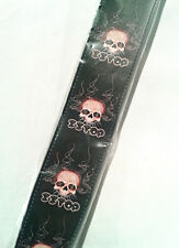 Hot Picks Guitar Strap - ZZ Top Skulls - Collectable - Leather Strap