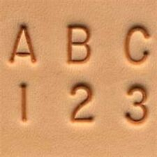 "Craftool 1/4"" (6 mm) Alphabet & Number Set Tandy Leather Item 8137-00"