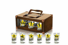"Set Of 6 Shot Glasses ""Stag Do"" Groom Party Gif In Box POLISH VERSION 35ml"