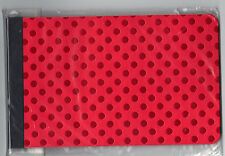 sei RED FOIL POLKA DOT 4 x 6 Preservation Album scrapbooking HOLIDAY!