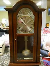 Hampton Dual Chime (Westminster/Whittington) Pendulum Wall Clock Wooden cabinet