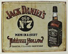 JACK DANIEL'S OLD NO. 7 METAL SIGN Whiskey Liquor NEW Tin Repro Aged Advertising