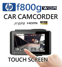 HP f800g Car DVR Touch Screen Recorder 1080P F1.9/WDR/GPS Logger/LDWS+ FREE GIFT