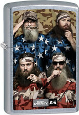 Zippo Duck Dynasty Family Album, Cast Members, Street Chrome Windproof 28885 NEW