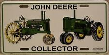 Aluminum John Deere Collector antique tractors License Plate NEW