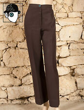 VINTAGE 70s 'SYM - PARIS' WIDE BOTTOMED TROUSERS - UK 12 - (Z)
