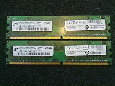 2x1GB = 2GB DDR2 Desktop Memory / PC2-6400U 800 Mhz  / NON-ECC RAM Unbuffered