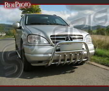 MERCEDES ML W163 1998-2001 BULL BAR, NUDGE BAR, A BAR + GRATIS! STAINLESS STEEL