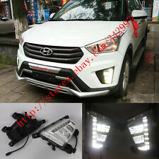 Direct Fit Hyundai ix25/Creta 2014-2016 LED DRL Daytime Running Lights Fog lamps