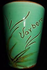 RARE Vintage SYCO Art Pottery Cup Mug Glass Souvenir VARBERG Sweden