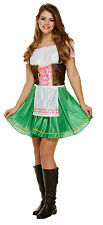 Bavarian Lady Beer Girl Oktoberfest Womens Fancy Dress Costume Size 12-14 P8441