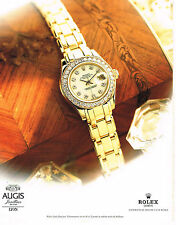 PUBLICITE ADVERTISING 094  1998  ROLEX  montre LADY DATEJUST CHRONO coll OR 2