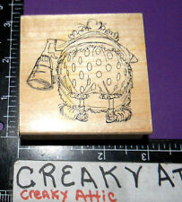 PEARL LADY BACK SIDE GOLDEN OLDIES RUBBER STAMPS ART IMPRESSIONS FUNNY