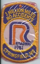 Roadway 1981 Springfield MO 1 million miles no accident driver patch 4-1/8X2-5/8