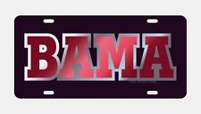 "UNIVERSITY OF ALABAMA Black ""BAMA"" Mirrored License Plate / Tag"