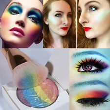 Rainbow Shimmer Eyeshadow Baked Blush Highlighter Contour Palette Makeup Powder