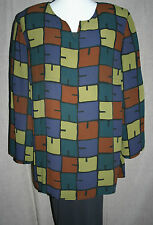 """!!REDUCED!! GUDRUN SJODEN XXL tunic top PLUS SIZE blouse 48"""" bust QUIRKY"""