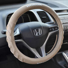 Honda Civic 2006-2015 Beige Cushion Grip Synth Leather Steering Wheel Cover