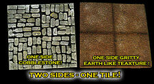 """STONES MODULAR 2x2"""" DOUBLE-SIDED Cobblestone/Earth Dungeon Tiles Frontline Games"""
