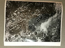 ww2 photo press US soldiers approach blasted japanese cave Okinawa   1945   114