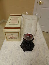 Avon Ruby Red Cape Cod Hurricane Candle Lamp