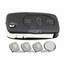 Audi A2 A3 A4 A6 A8 TT 3 Button Remote Key Fob Case Repair Kit With Blade + LOGO