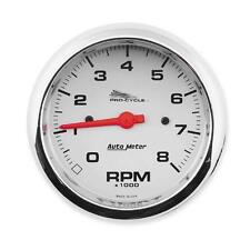 Auto Meter 8000 RPM Tachometer 3 3/8in. Standard Tach with Silver Face 19302