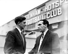 Alf Ramsey welcomes Danny Blanchflower to White Hart Lane 10x8 Photo