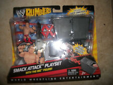 WWE Rumblers Miz Smack Attack Playset Chair smacker and trash cans cans New