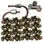 50 X FEMALE BRAKE FITTINGS NUTS 10mm X 1 3/16 MALE UNIONS PIPE COPPER