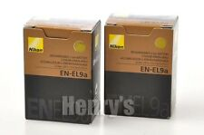 TWO GENUINE NIKON EN-EL9a  BATTERIES/25377/D3000/D5000/USED