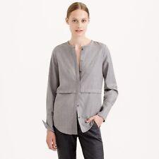 J.CREW Collection Women's Mauve Wool Flannel Blouse Top Shirt Sz 2 $158 EUC