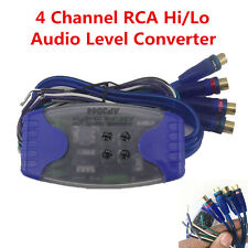 Car Stereo Audio Wire to 4 Channel RCA High to Low Audio Level Converter Adaptor