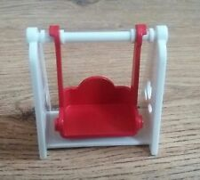Vintage Sylvanian Families Swing. Red & White. EPOCH.Retro Toys.Spare Part Piece