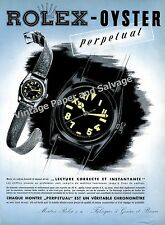 1942 Rolex Oyster Perpetual Watch Advert Montres Rolex SA Swiss Print Ad Suisse
