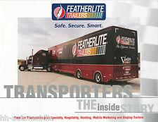 Prospekt Featherlite Race Car Transporters Hospitality Vending USA 1/01 brochure