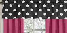 Window Valance Curtain for Sweet Jojo Design Black White Polka Dot Girl Bedding
