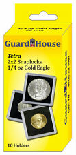 Guardhouse Tetra Snaplock Coin Holders, 1/4 oz AGE, 2x2, 10 pack