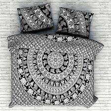 Indian Elephant Mandala Queen Size Duvet Covers With Bed Sheet & 2 Pillows Set