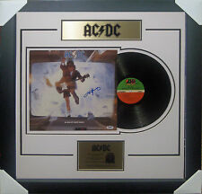 ANGUS YOUNG ACDC SIGNED BLOW UP YOUR VIDEO VINYL ALBUM SIGNED FRAMED PSA DNA