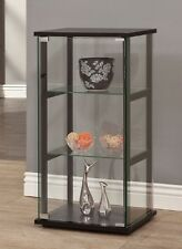 Curio Display Cabinet Knick Knack Black 3 Shelf Glass Case Collectibles Floor
